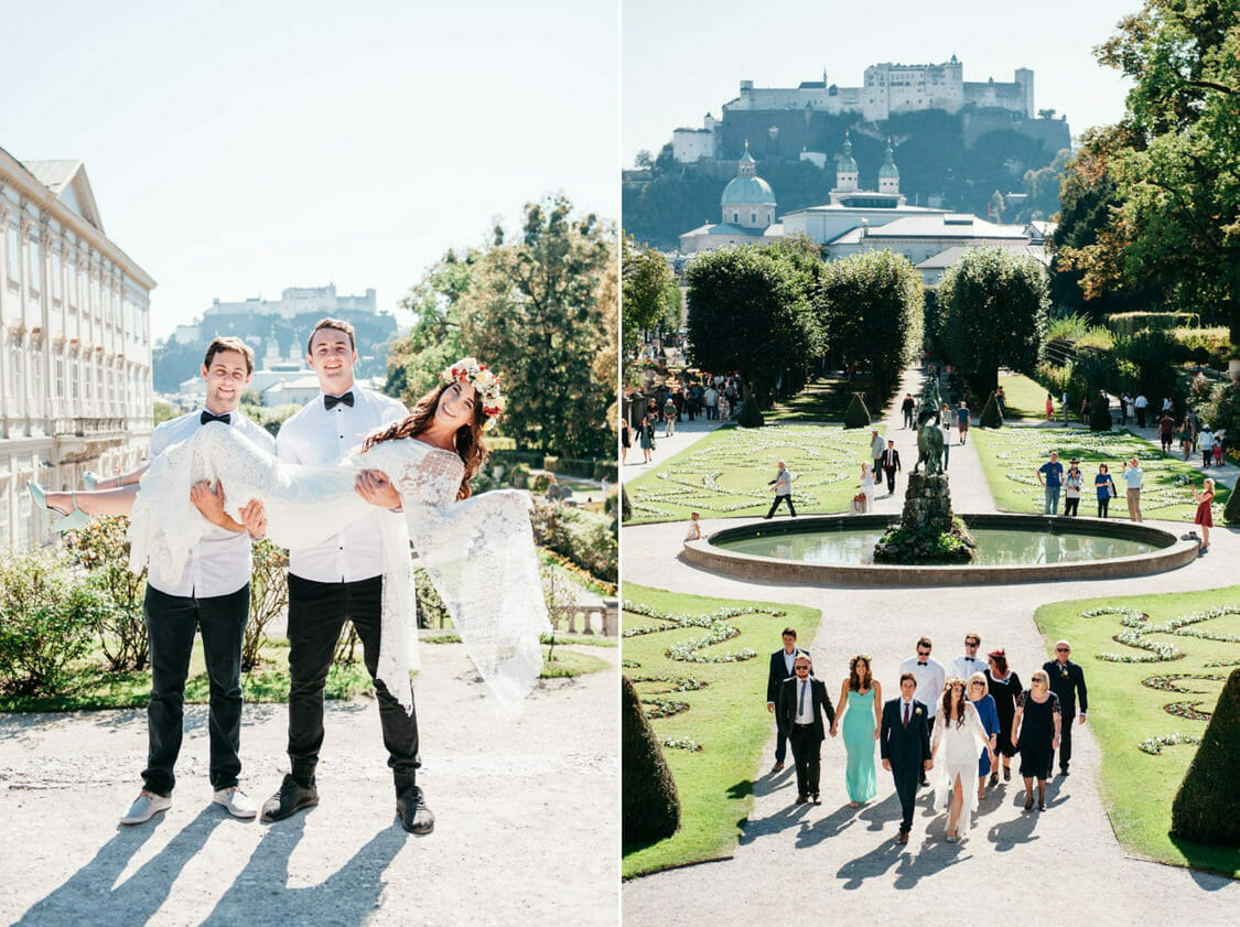 Elopement Hochzeit Salzburg Schloss Mirabell Marmorsaal Mirabellgarten 013