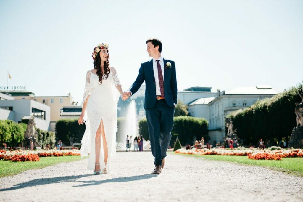 Elopement Hochzeit Salzburg Schloss Mirabell Marmorsaal Mirabellgarten 017