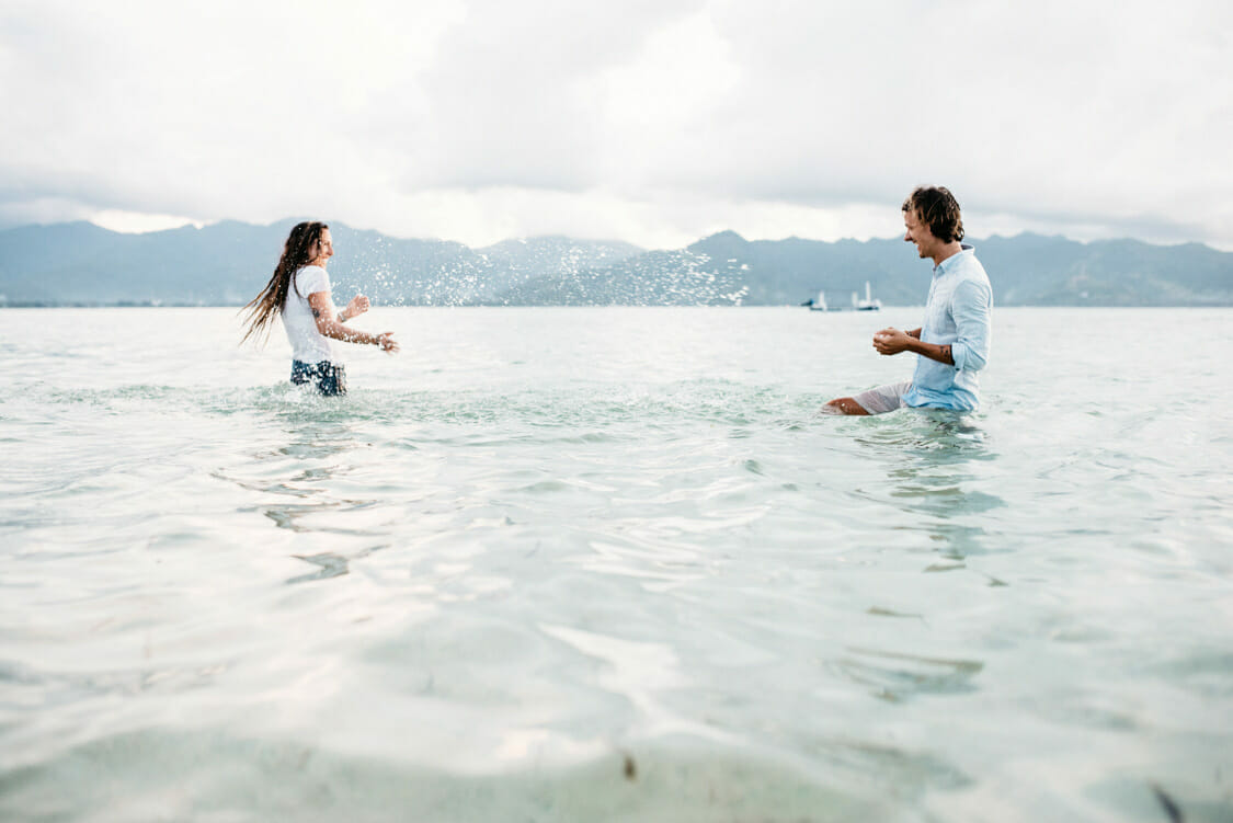 Paarfotos Strand Indonesien Giliair 015