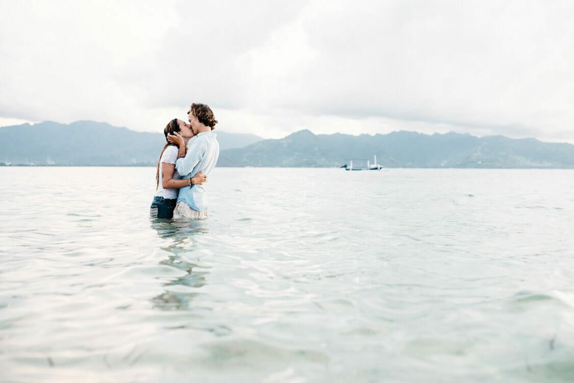 Paarfotos Strand Indonesien Giliair 016